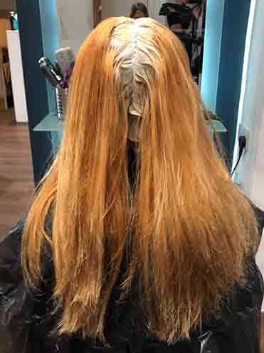 Salon root bleach