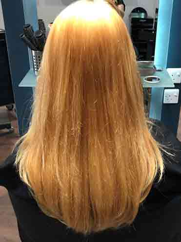 Salon bleached hair