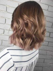 Professionally dyed hair with baby pink ombre