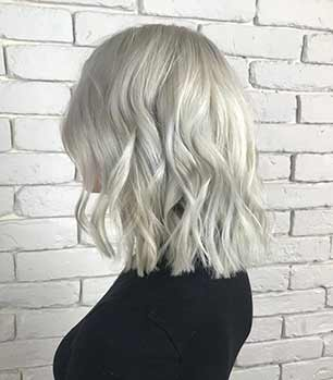 After image of platinum blonde hair