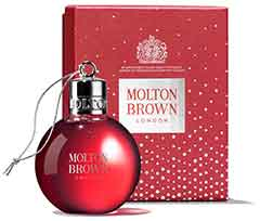 Christmas bauble/shower gel gift red