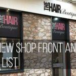 Image of a hair salon shop front