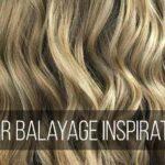 Blonde balayaged hair
