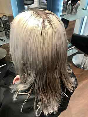 Damaged bleached hair